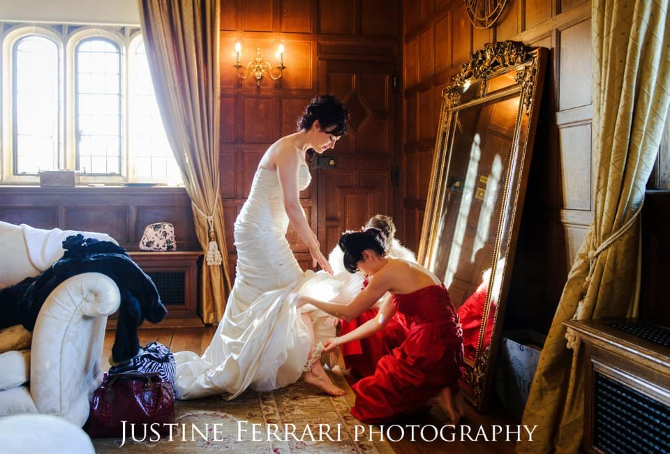Hengrave Hall Winter weddings with a Christmas feel