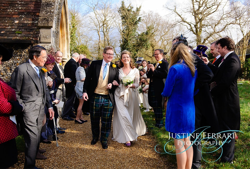 Kitty and David Newmarket wedding