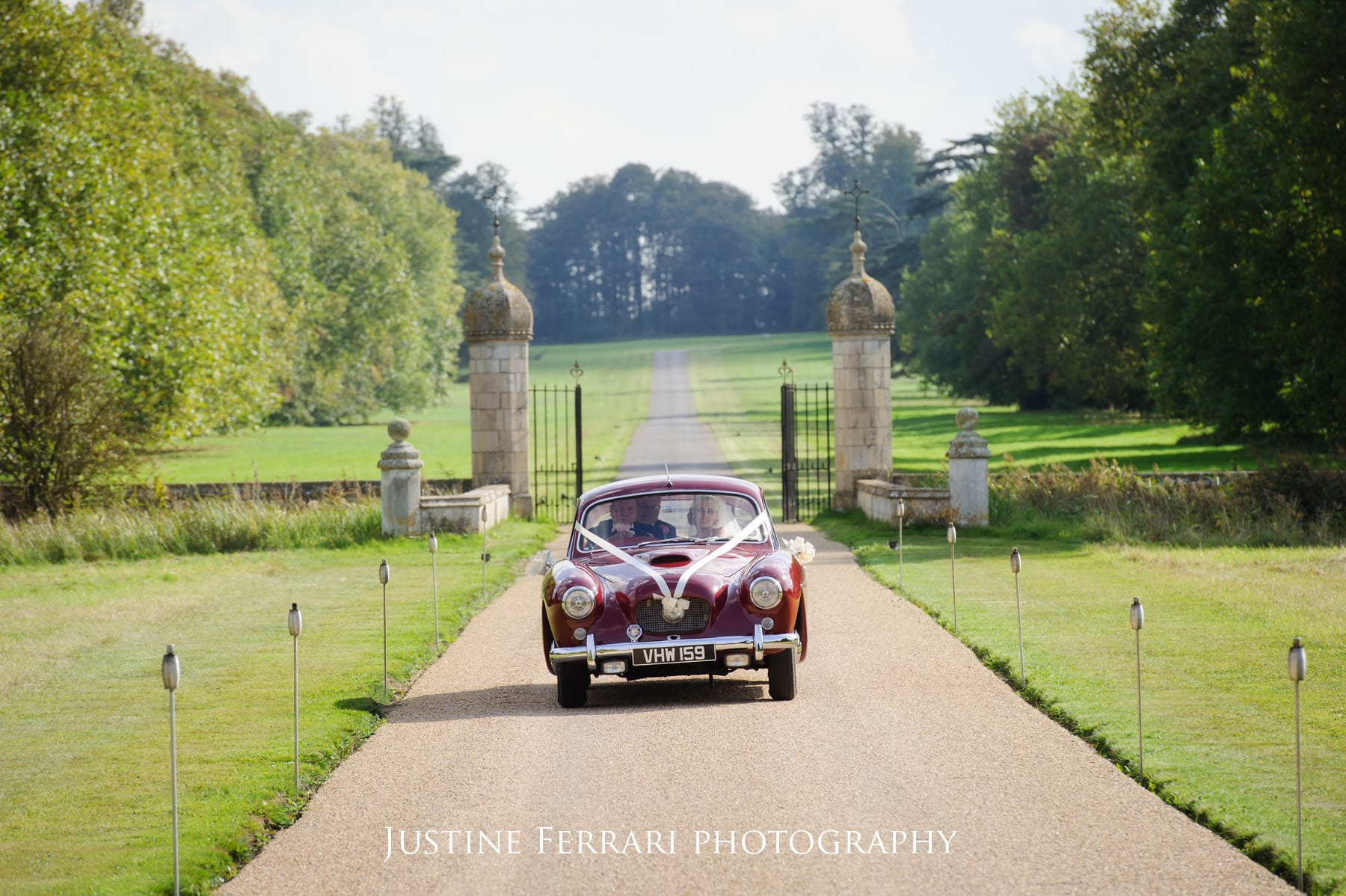 car arriving at hengrave hall
