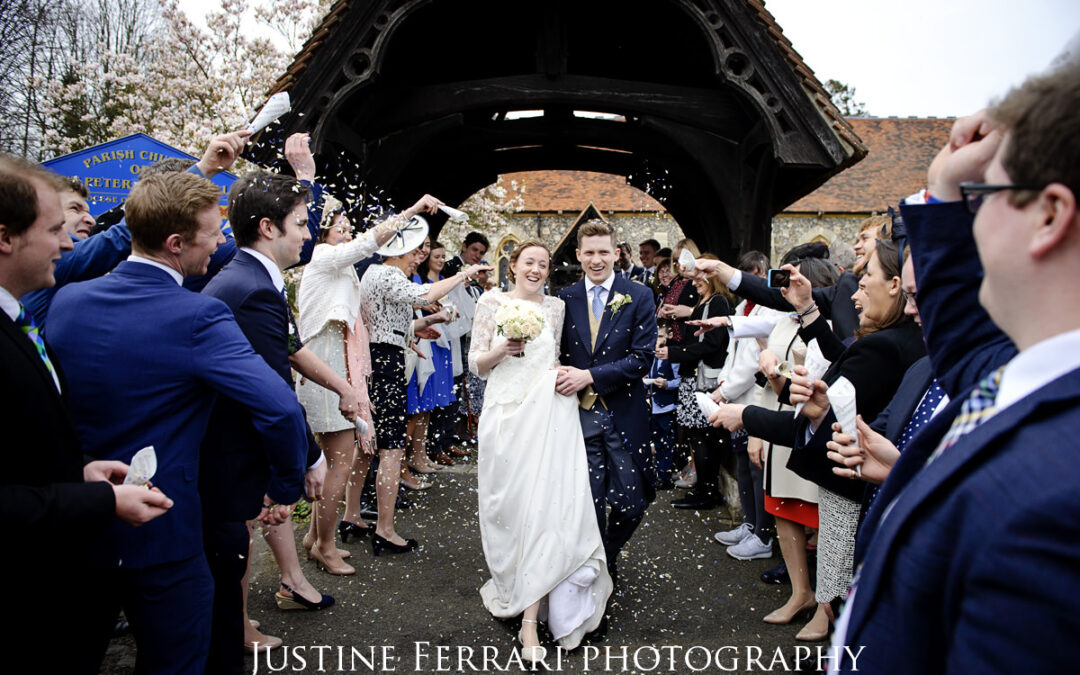 Springtime wedding photographs in Essex